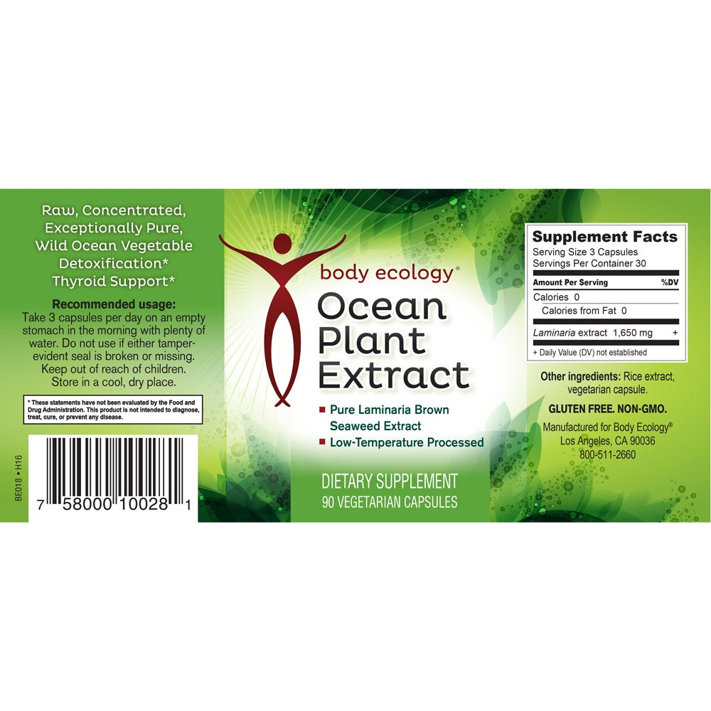 body ecology canada ocean plant extract label