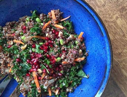This Edamame & Pomegranate Winter Salad is Packed With Healthy Protein