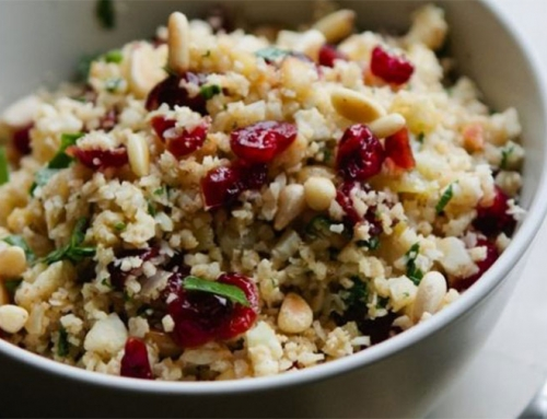 Cranberry Cauliflower Tabboul-Eh (Vegan)