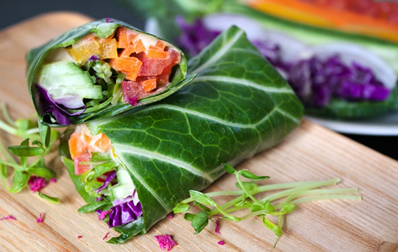 Collard Wraps Raw Food