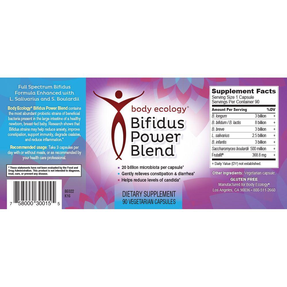 body ecology canada bifidus power blend label