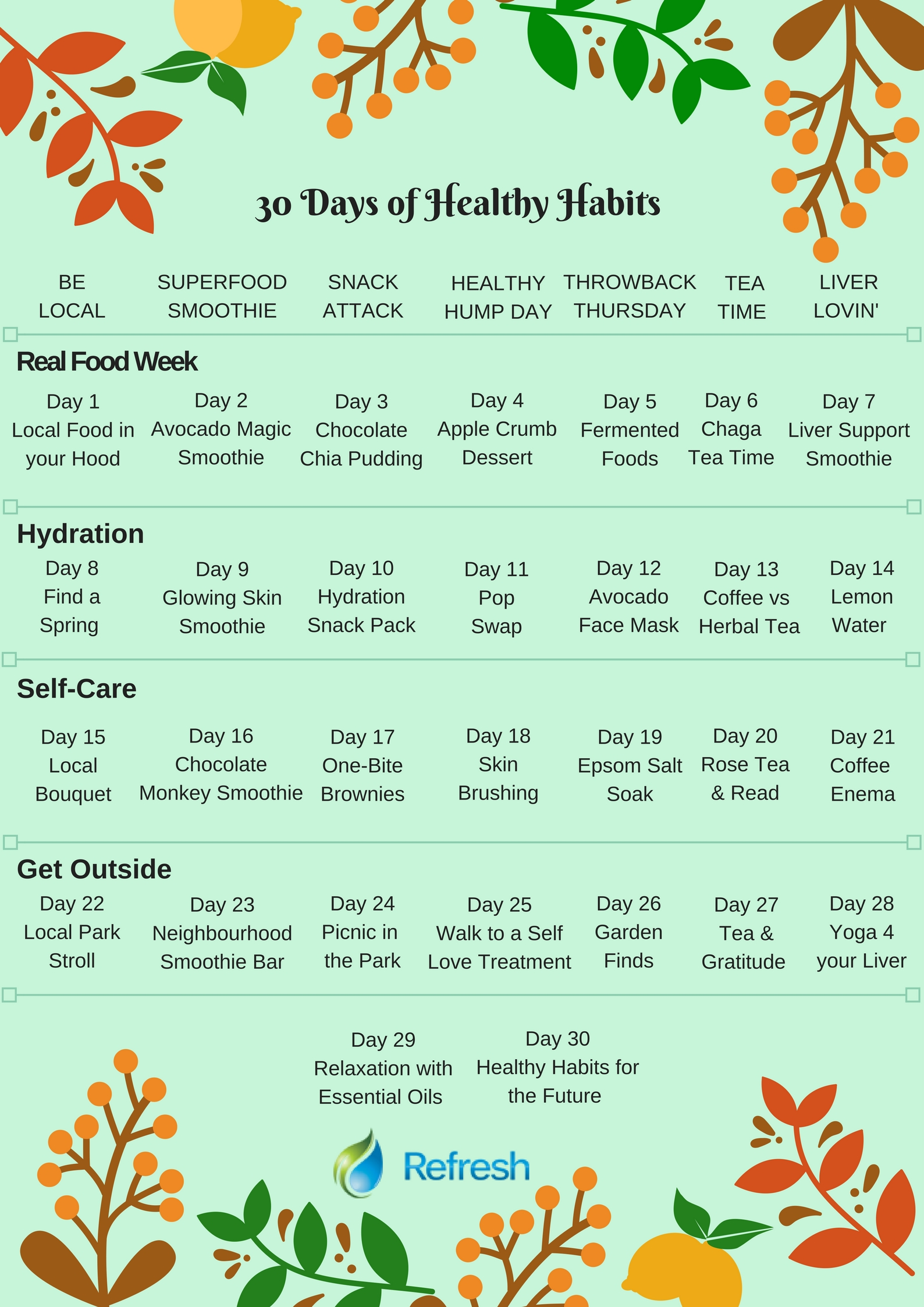 Refresh 30 Day Health Challenge