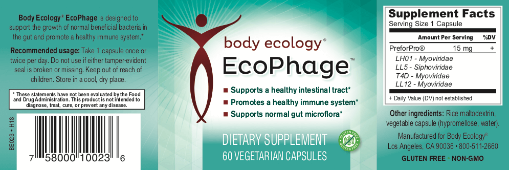 Body Ecology Canada Ecophage - Label Back